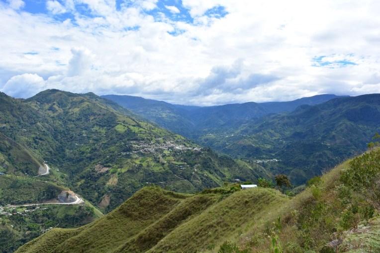 Bela vista que se tem ao subir o El Aguacate