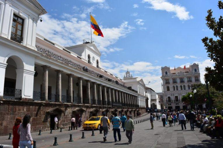 Palácio do governo, em Quito