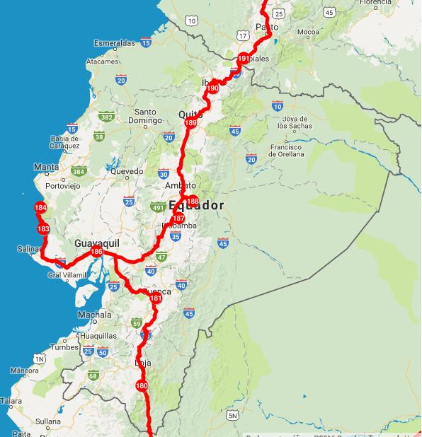 Nosso roteiro pelo Equador