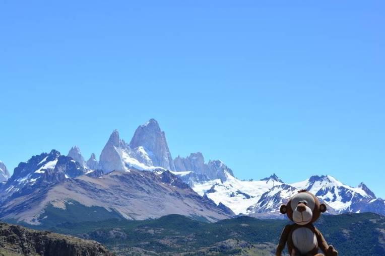 Mucuvinha em frente ao Fitz Roy, Argentina