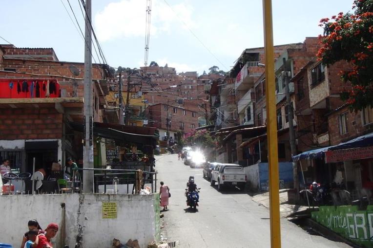 Bairro Pablo Escobar, em Medellín
