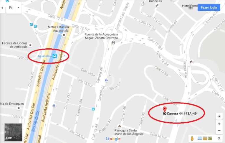 Mapa para chegar ao Edifício Mónaco