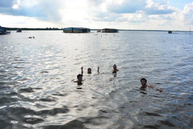 Nosso mergulho no lago Maracaibo