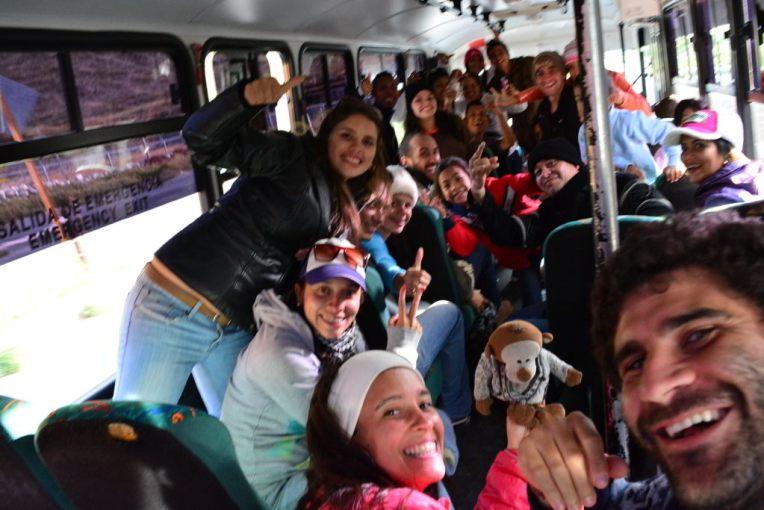 Com o pessoal para o tour de Los Páramos