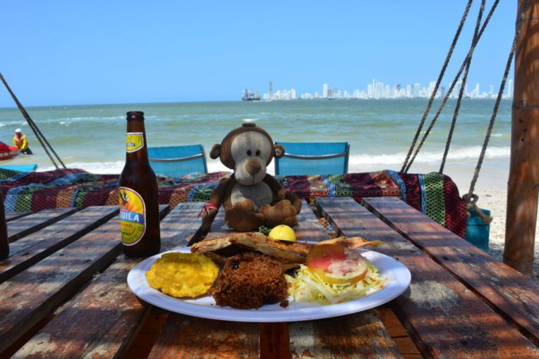 Almoço típico de Cartagena