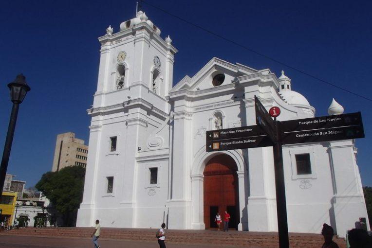 Catedral de Santa Marta, onde estava enterrado Simón Bolívar