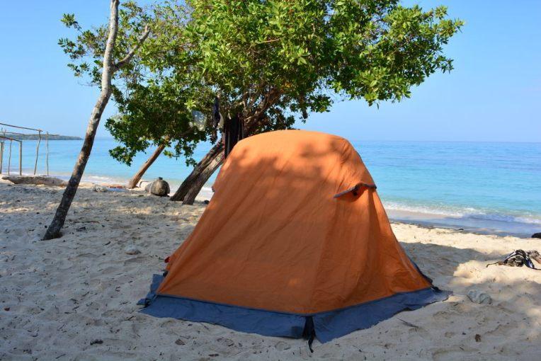Acampando na Playa Blanca