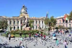 Centro de La Paz, a capital boliviana