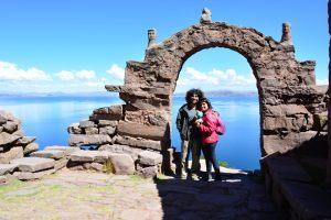 Ilha do Titicaca no Peru