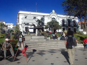 No centro histórico de Potosí