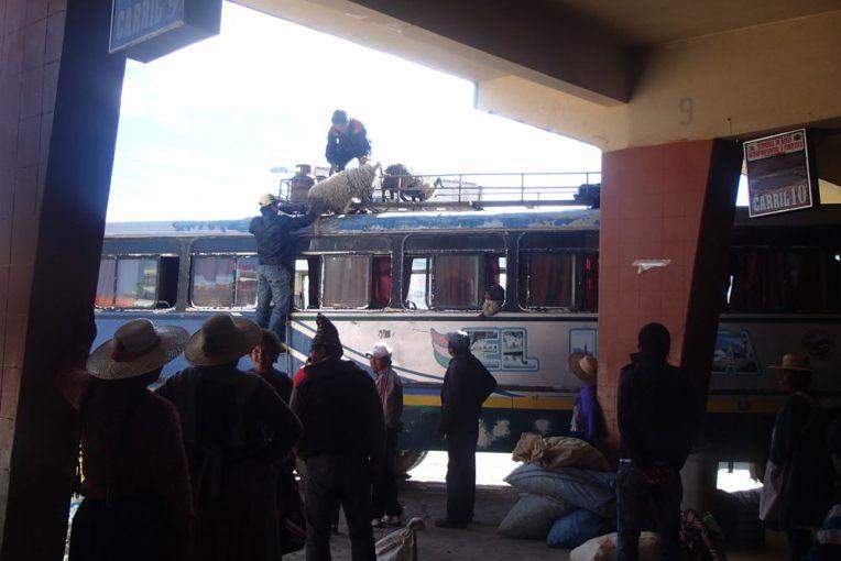ônibus em Potosí, Bolívia