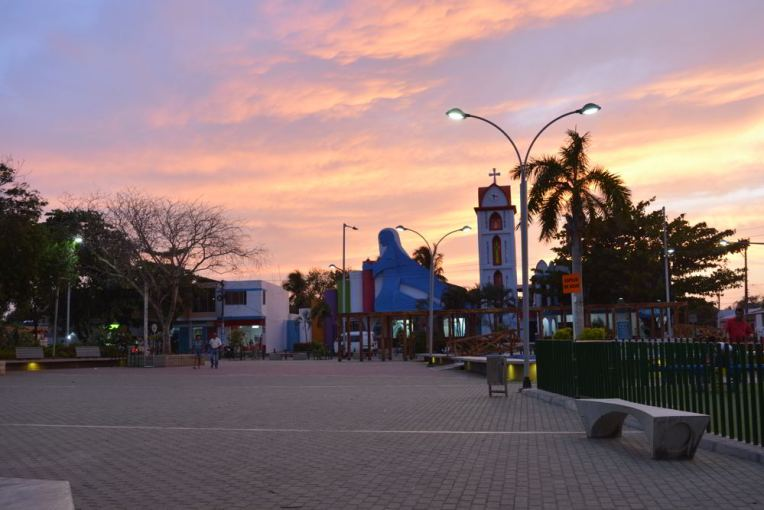 Praça central de Arboletes