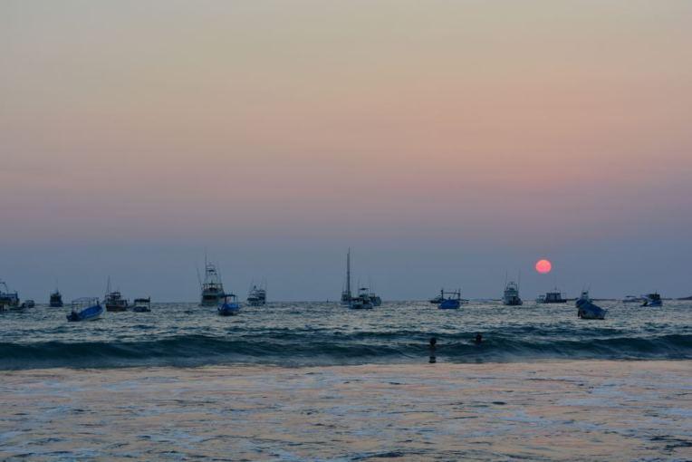 Belo pôr do sol em San Juan del Sur