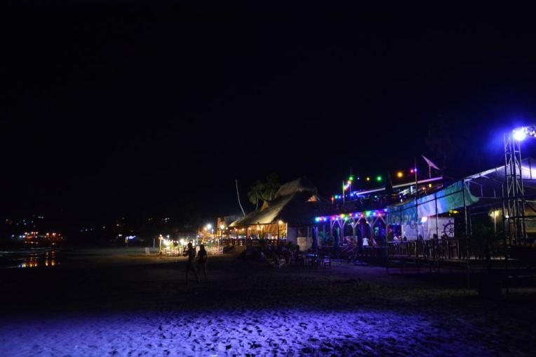 Praia de San Juan del Sur pela noite