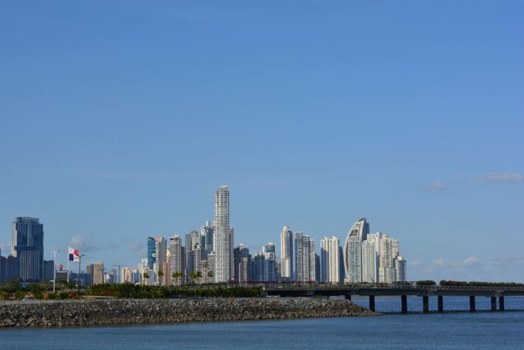 Lado moderno da Cidade do Panamá