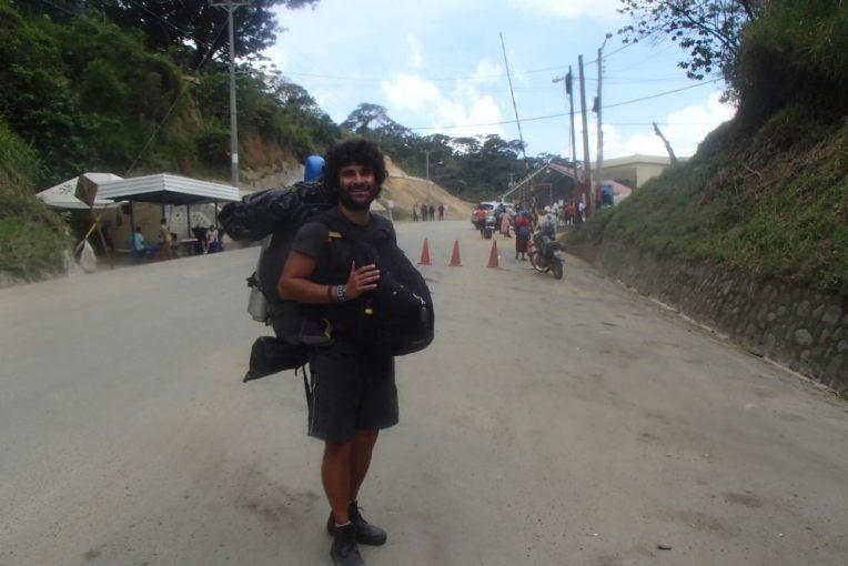 Cruzando a fronteira Nicarágua - Honduras