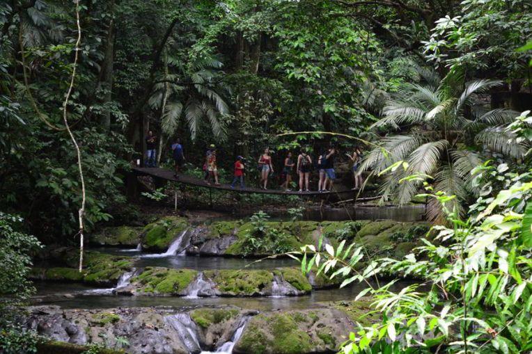 Belo rio na Parque Nacional Palenque