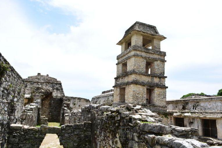 Torre para observatório astronômico no Palácio de Palenque