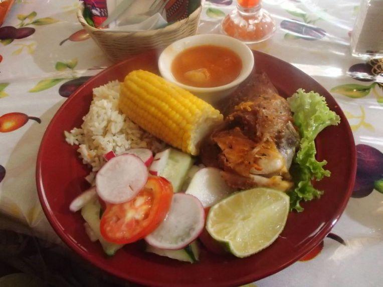 Menu na Guatemala
