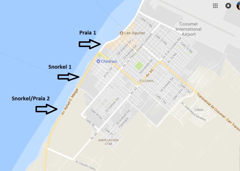 Praias em Cozumel