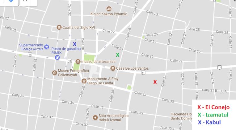 Mapa de Izamal