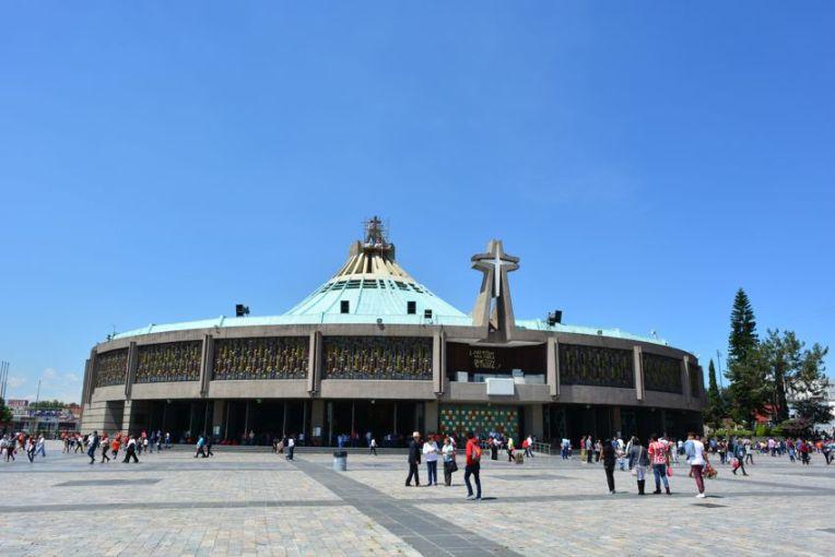 A nova Basílica de Guadalupe, na Cidade do México