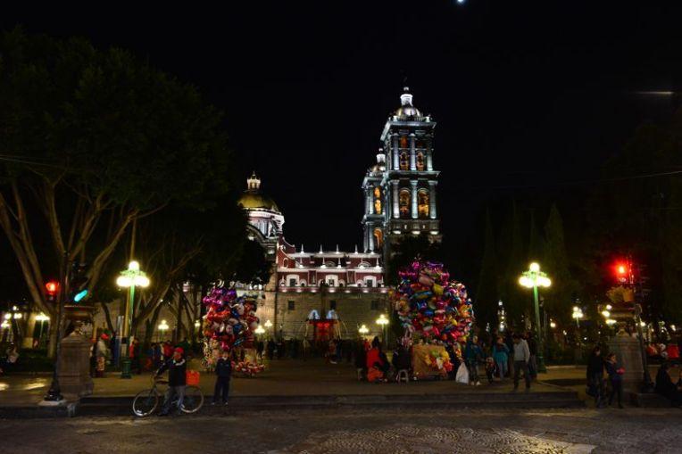 Puebla pela noite