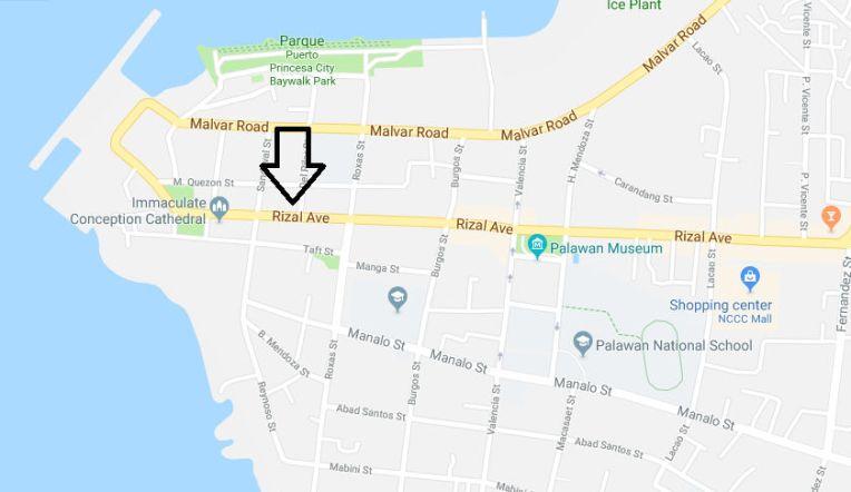 Endereço da Milagrosa em Puerto Princesa