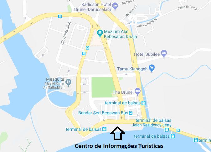 Centro de Brunei, com destaque ao Centro de Informações Turísticas