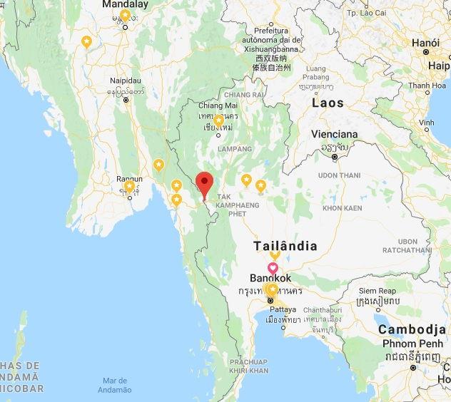 Fronteira Tailândia - Myanmar