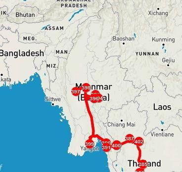 Roteiro pelo Mianmar