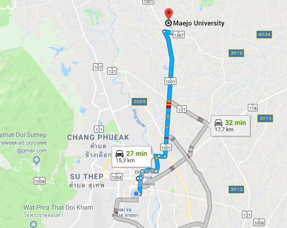Local da Universidade de Mae Jo