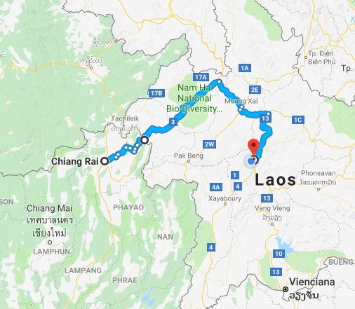 Roda de Chiang Rai a Luang Prabang
