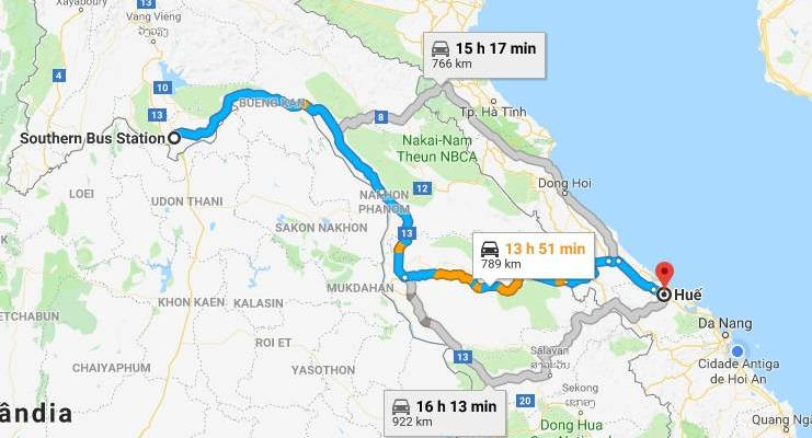 Viagem do Laos ao Vietnã de ônibus
