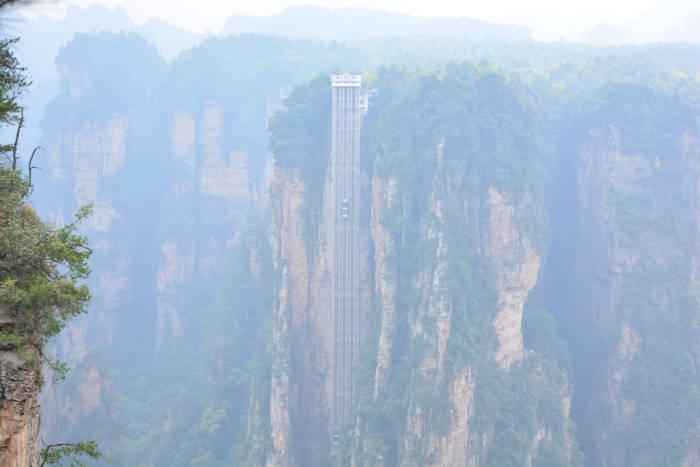 Elevador Bailong, Zhanjiajie