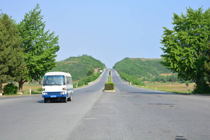 Estrada Pyongyang - DMZ - Coreia do Norte