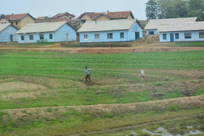 Zona rural da Coreia do Norte