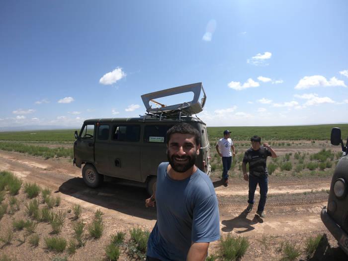 Mochilando pelo deserto de Gobi