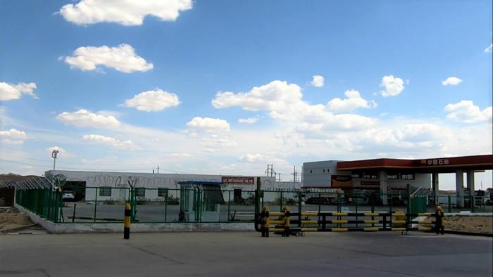 Posto de gasolina em Xinjiang, China