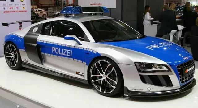 Top 10 carros de polícia mais caros do mundo - Audi R8 GTR