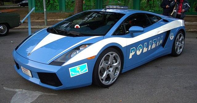 Top 10 carros de polícia mais caros do mundo - Lamborghini Gallardo