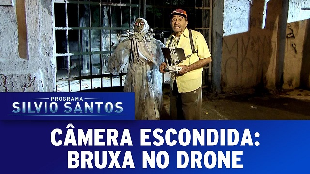 Top 10 pegadinhas mais assustadoras do Silvio Santos - Bruxa no Drone