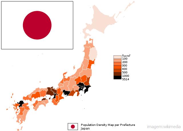 Top 10 países mais populosos do mundo - Japão