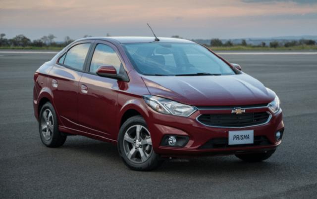 Top 10 carros mais vendidos no Brasil - Chevrolet Prisma