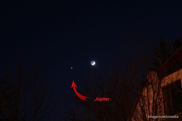 Dá pra ver Júpiter daqui da Terra