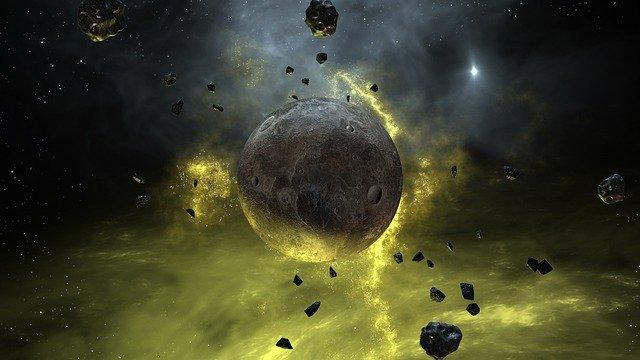 Formação do planeta Terra meio caótica