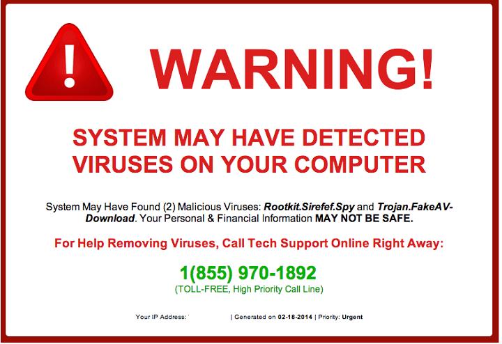 Как удалить всплывающие окна мошенничества с техподдержкой в Windows