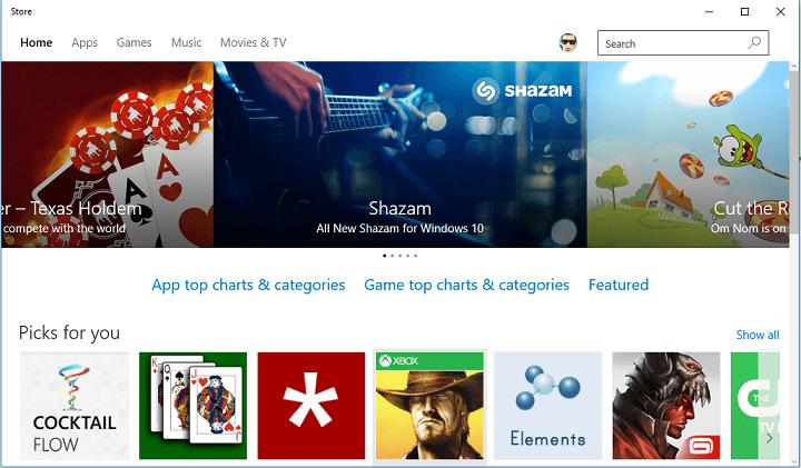 Исправлено: Магазин Windows 10 не позволяет покупать приложения.