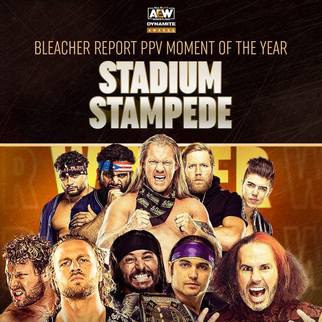 Cartel del mejor combate para en los AEW Awards