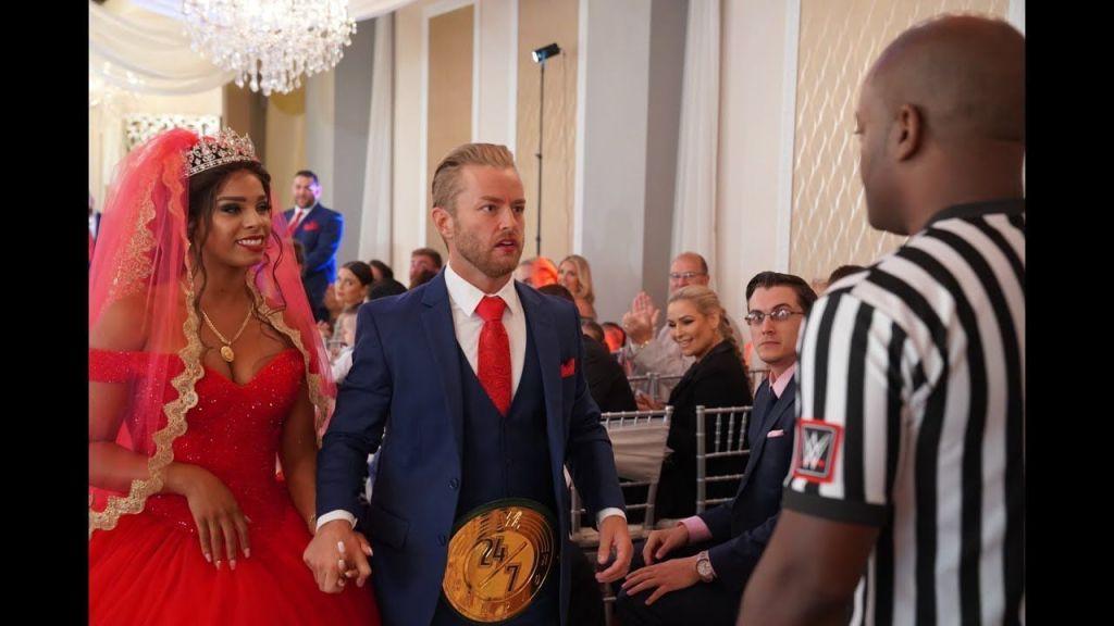 Renee Michelle y Maverick en el día de su boda